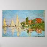 Regatta at Argenteuil by Claude Monet Posters