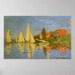 Regatta at Argenteuil by Claude Monet, Vintage Art