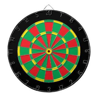 Reggae Dartboard: Black, Red, Yellow, And Green Dartboards
