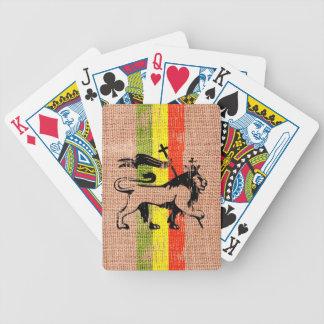 Reggae king lion bicycle playing cards