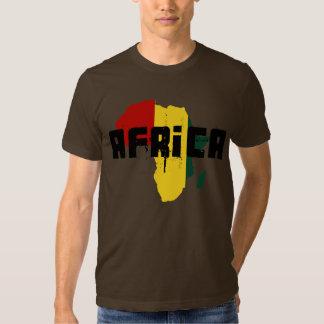 Reggae Map of Africa African Ragga Art Tee Shirts