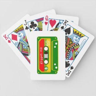 Reggae mix tape cassette Rastafarian Bicycle Playing Cards