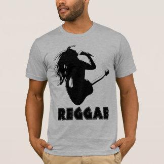 Reggae Music Rastaman Guitar Silhouette Mens Tee