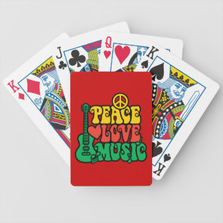 Reggae Peace Love Music Bicycle Playing Cards