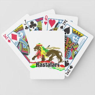 Reggae Rasta Iron, Lion, Zion 2 Bicycle Playing Cards