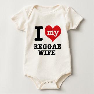 Reggae wife baby bodysuit