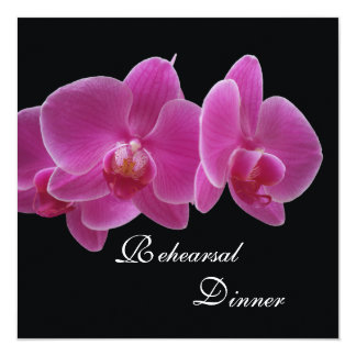 Rehearsal Dinner Invitation -- Orchids