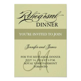Rehearsal Dinner Invitations Sage Monogram