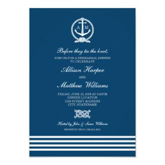Rehearsal Dinner Invites | Nautical Stripes Theme