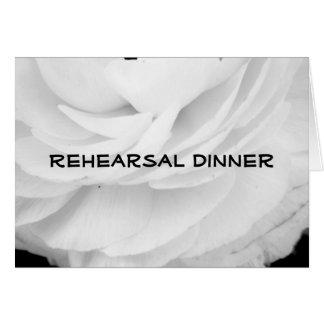 Rehearsal Dinner white Card