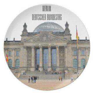 Reichstag building in Berlin, Germany Plate
