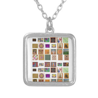 reiki,ommantra,buddha,ganesh,chokurei,chakra,krish silver plated necklace