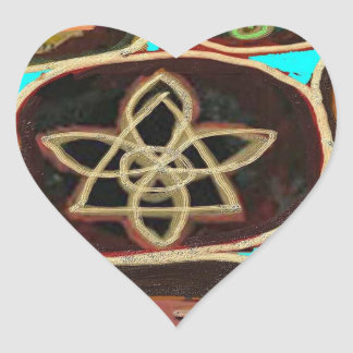 ReikiHealingArt n Karuna Reiki ICONS Heart Stickers