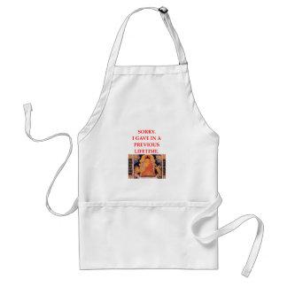 reincarnation joke standard apron