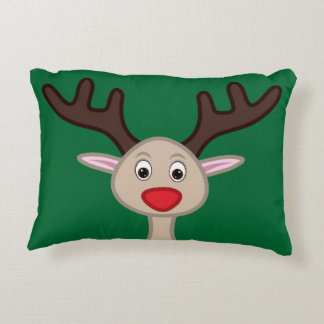 Reindeer cartoon character decorative cushion