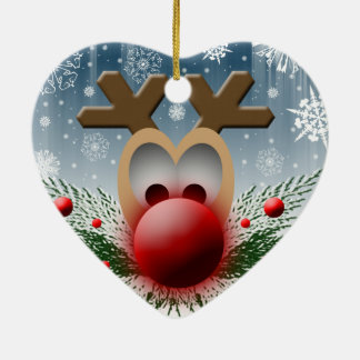 Reindeer Christmas Heart Ornaments