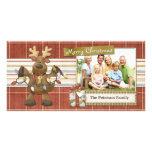 Reindeer Christmas Lights Photo Card