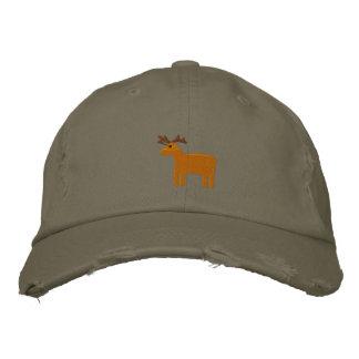 Reindeer Embroidered Hat