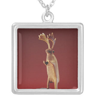Reindeer, from Cape Dorset Silver Plated Necklace