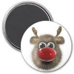 Reindeer Holiday Locker Magnets, Back to school Fridge Magnet