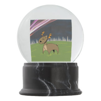 Reindeer in the tundra snow globes