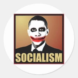Reject Socialism Round Sticker