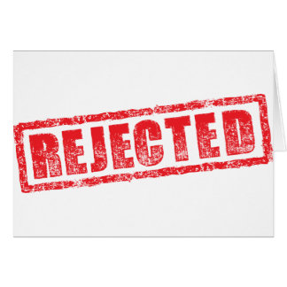 Rejected rubber stamp image card
