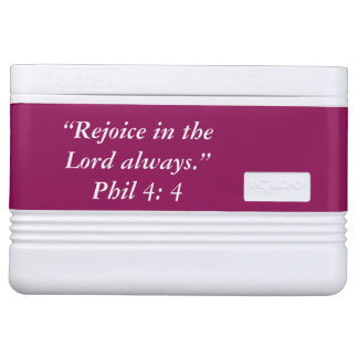 """""""Rejoice"""" Igloo Scripture 12 Can Cooler Chilly Bin"""