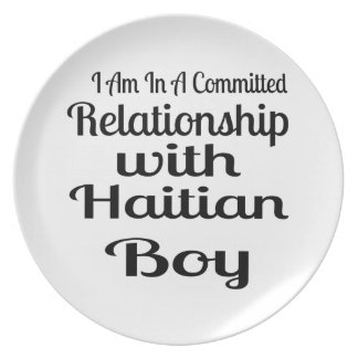 Relationship With Haitian Boy Plate