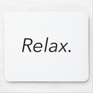 Relax. Black Blue Red Mouse Pad