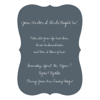 """Relax, Let Your Top Knot Down"" Girls Night Invite"
