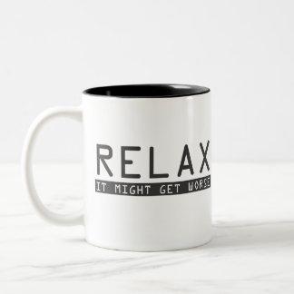 Relax Two-Tone Coffee Mug