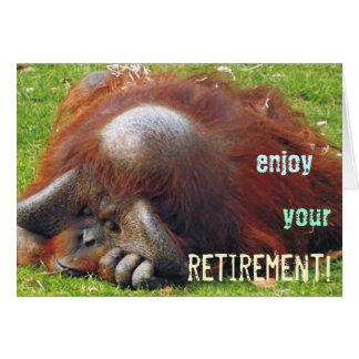 Relaxing Orangutan Retirement Photo Greeting Cards