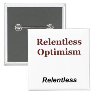 Relentless Optimism 15 Cm Square Badge