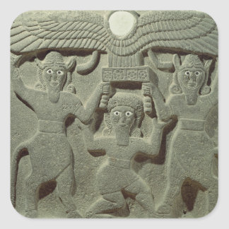Relief depicting Gilgamesh between two Square Sticker