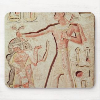 Relief depicting Ramesses II  smiting enemies Mouse Pad