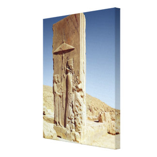 Relief in the Hall of a Hundred Columns Canvas Print