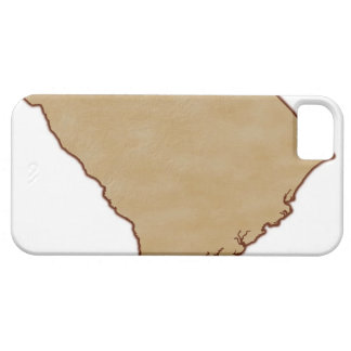 Relief Map of South Carolina iPhone 5 Case