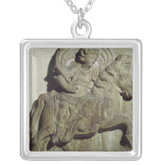 Relief of Epona, Gaulish goddess Silver Plated Necklace