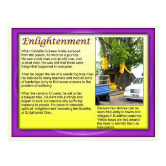 Religion, Buddhism, the enlightened one Postcard