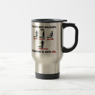 Religion is Anti-Me. Stainless Steel Travel Mug