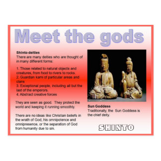 Religion, Japan, Shinto, Meet the gods Postcard