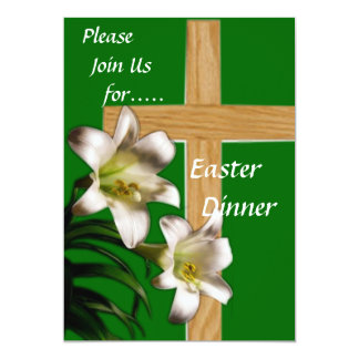 Religious Easter Dinner Invitation