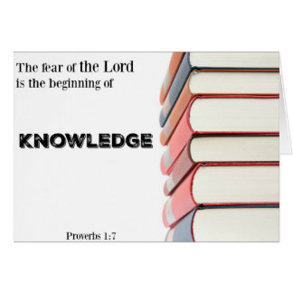 Religious Graduation Card-Beginning of Knowledge Greeting Card