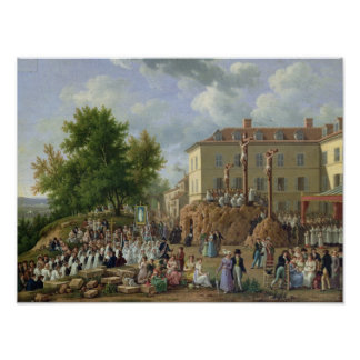 Religious Procession to Mont Valerien, 1819 Poster