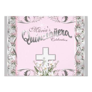 Religious Quinceanera 4.5x6.25 Paper Invitation Card