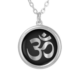 Religious Symbol of Hinduism- Pranava Silver Plated Necklace