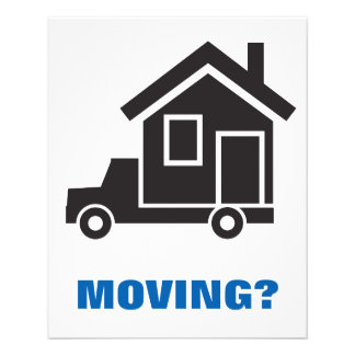 relocation service or moving company 11.5 cm x 14 cm flyer