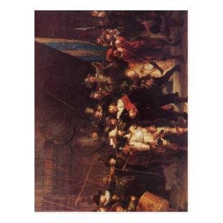 Rembrandt Harmensz. van Rijn Die Nachtwache 1642 T Postcard