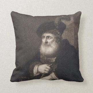 Rembrandt Portrait of a Rabbi Cushion